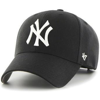 Gorra curva negra para niño de New York Yankees MLB MVP de 47 Brand