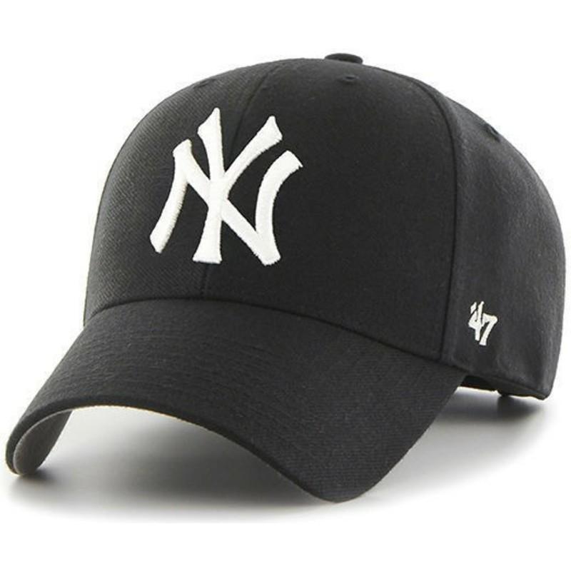 Gorra curva negra para niño de New York Yankees MLB MVP de 47 Brand ... 21e00170f1f