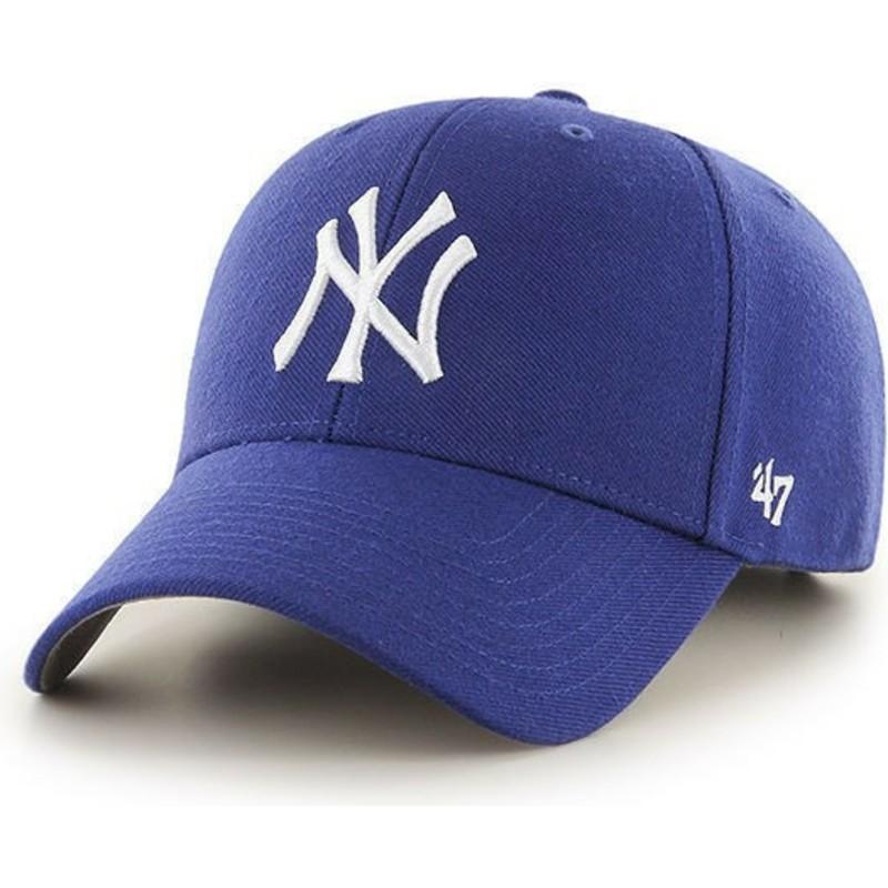 Gorra curva azul para niño de New York Yankees MLB MVP de 47 Brand ... bf682999b70