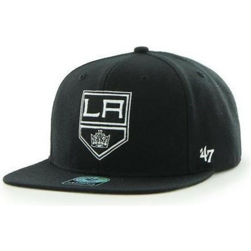 Gorra plana negra snapback de Los Angeles Kings NHL Captain de 47 ... b75837a288b