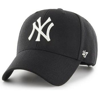 Gorra curva negra snapback de New York Yankees MLB MVP de 47 Brand