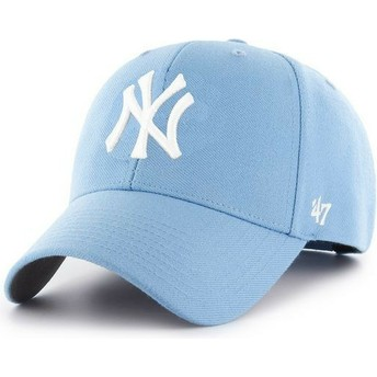 Gorra curva azul claro snapback de New York Yankees MLB MVP de 47 Brand