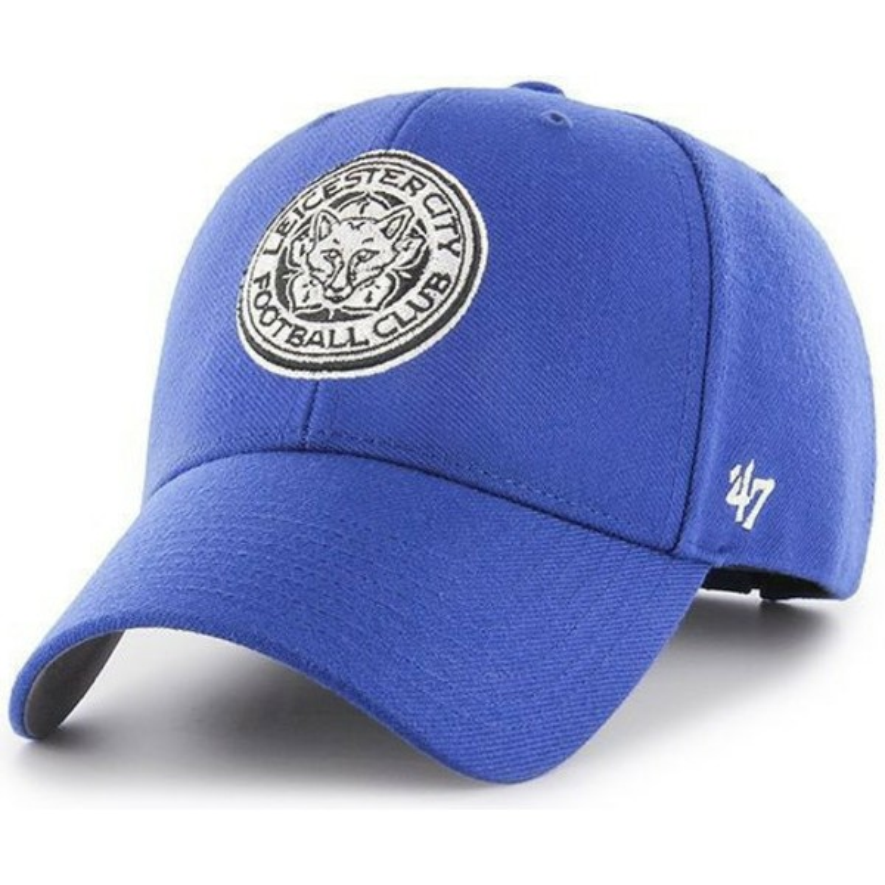 Gorra curva azul con logo de zorro de Leicester City Football Club ... 61a92298875