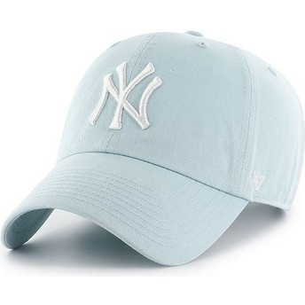 Gorra curva azul claro de New York Yankees MLB Clean Up de 47 Brand