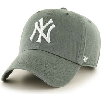 Gorra curva verde oscuro de New York Yankees MLB Clean Up de 47 Brand