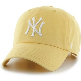 Gorra curva amarilla de New York Yankees MLB Clean Up de 47 Brand