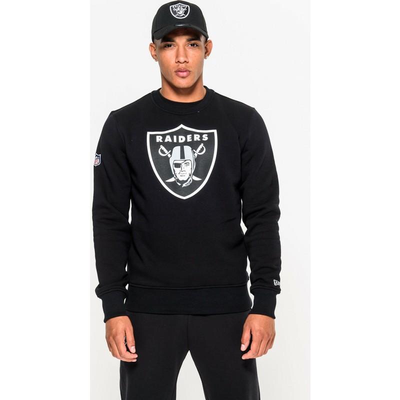 venta minorista 5b4da 6f050 Sudadera negra Crew Neck de Oakland Raiders NFL de New Era