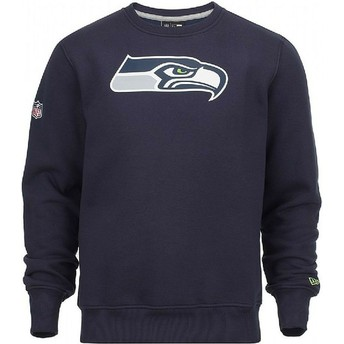 Sudadera azul Crew Neck de Seattle Seahawks NFL de New Era
