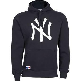 Sudadera con capucha azul marino Pullover Hoodie de New York Yankees MLB de New Era