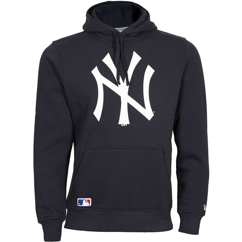 f32512ee3021e Sudadera con capucha azul marino Pullover Hoodie de New York Yankees ...