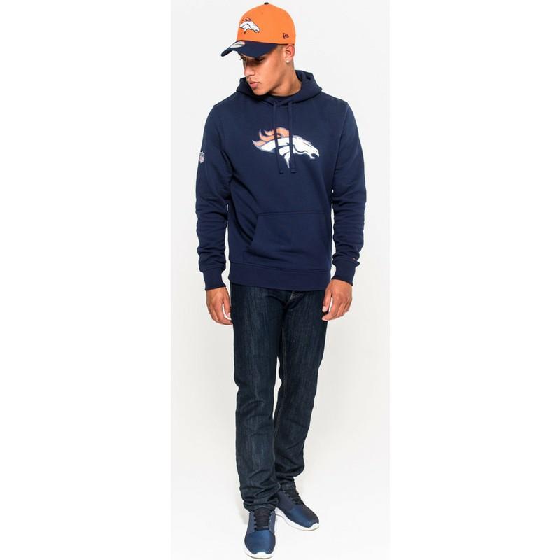sudadera con capucha azul pullover hoodie de denver. Black Bedroom Furniture Sets. Home Design Ideas