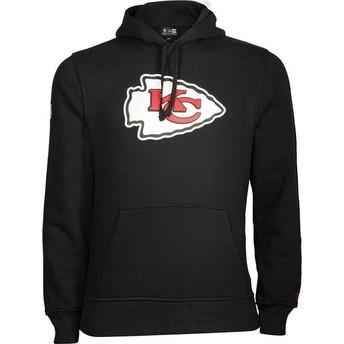 Sudadera con capucha negra Pullover Hoodie de Kansas City Chiefs NFL de New Era