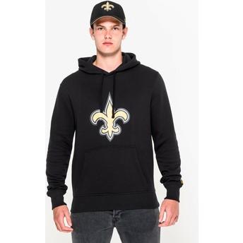 Sudadera con capucha negra Pullover Hoodie de New Orleans Saints NFL de New Era