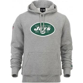 Sudadera con capucha gris Pullover Hoodie de New York Jets NFL de New Era