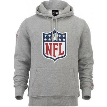 Sudadera con capucha gris Pullover Hoodie de NFL de New Era
