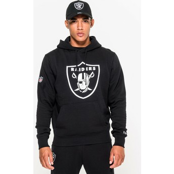 Sudadera con capucha negra Pullover Hoodie de Oakland Raiders NFL de New Era