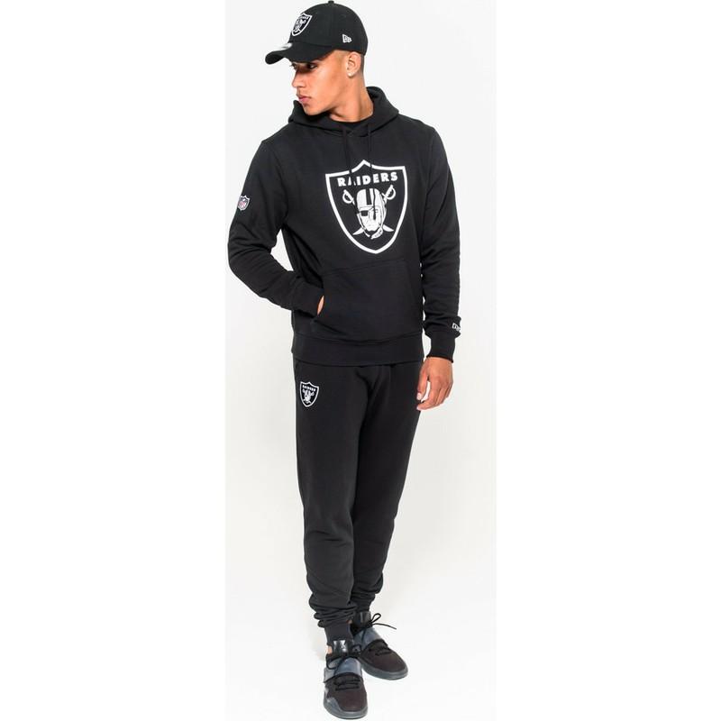 Sudadera Con Capucha Negra Pullover Hoodie De Oakland