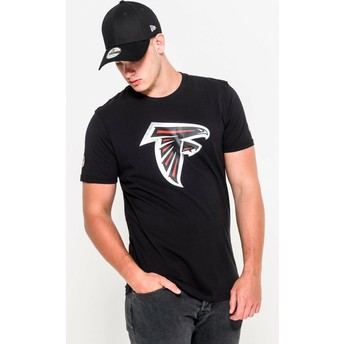 Camiseta de manga corta negra de Atlanta Falcons NFL de New Era