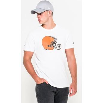 Camiseta de manga corta blanca de Cleveland Browns NFL de New Era