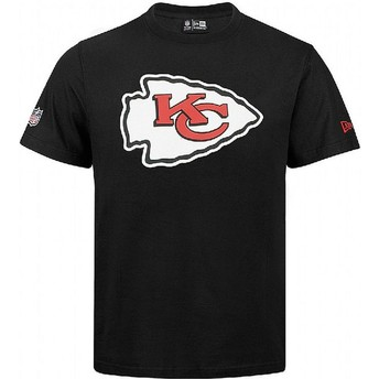 Camiseta de manga corta negra de Kansas City Chiefs NFL de New Era