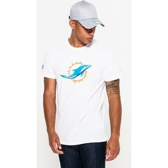 Camiseta de manga corta blanca de Miami Dolphins NFL de New Era