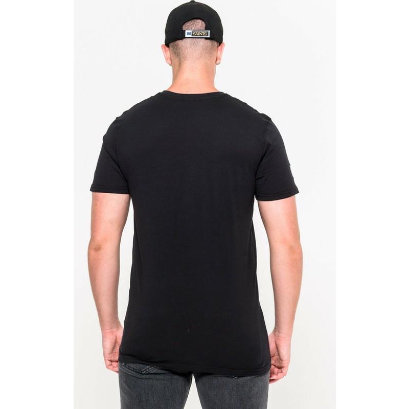 1fc0dd19c73aa Camiseta de manga corta negra de New Orleans Saints NFL de New Era ...