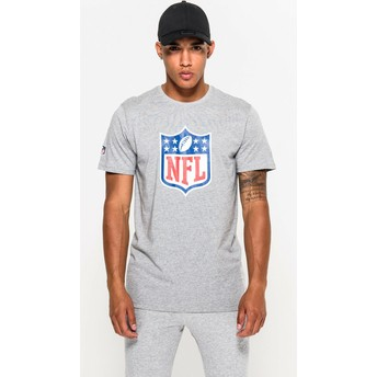 Camiseta de manga corta gris de NFL de New Era