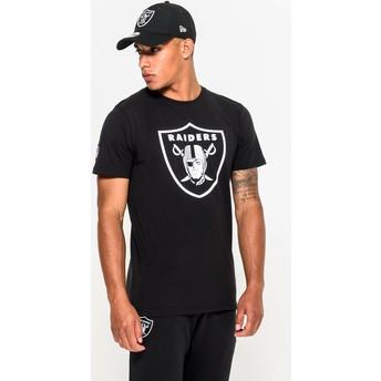 Camiseta de manga corta negra de Las Vegas Raiders NFL de New Era