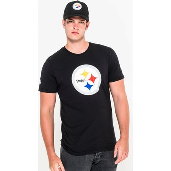 Camiseta de manga corta negra de Pittsburgh Steelers NFL de New Era