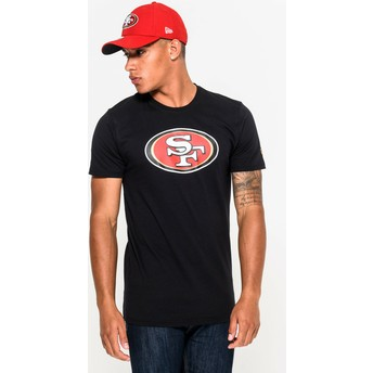 Camiseta de manga corta negra de San Francisco 49ers NFL de New Era