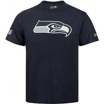 Camiseta de manga corta azul de Seattle Seahawks NFL de New Era