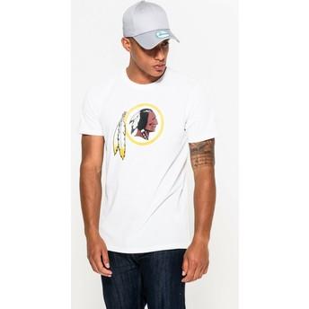 Camiseta de manga corta blanca de Washington Redskins NFL de New Era