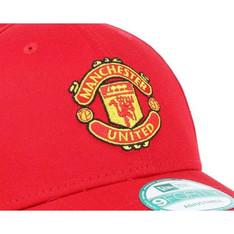 Gorra curva roja ajustable 9FORTY Essential de Manchester United ... c79c0301f18