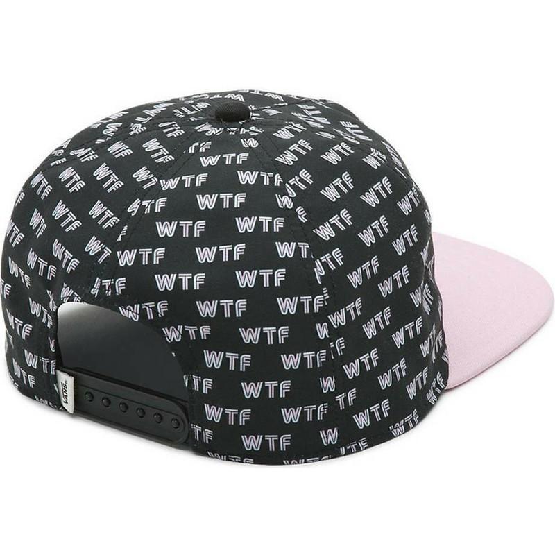 Gorra plana negra snapback WTF de Vans  comprar online en Caphunters 48a635e805e