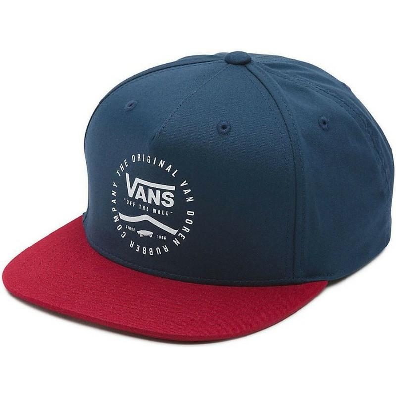 Gorra plana azul marino snapback con visera roja Side Stripe de Vans ... 4134404f834
