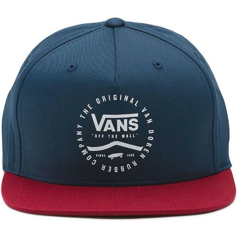 Gorra plana azul marino snapback con visera roja Side Stripe de Vans ... 2bb3bf1ae78