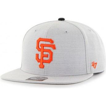 Gorra plana gris snapback de San Francisco Giants MLB Boreland Captain RF de 47 Brand