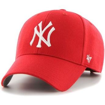 Gorra curva roja de New York Yankees MLB MVP de 47 Brand