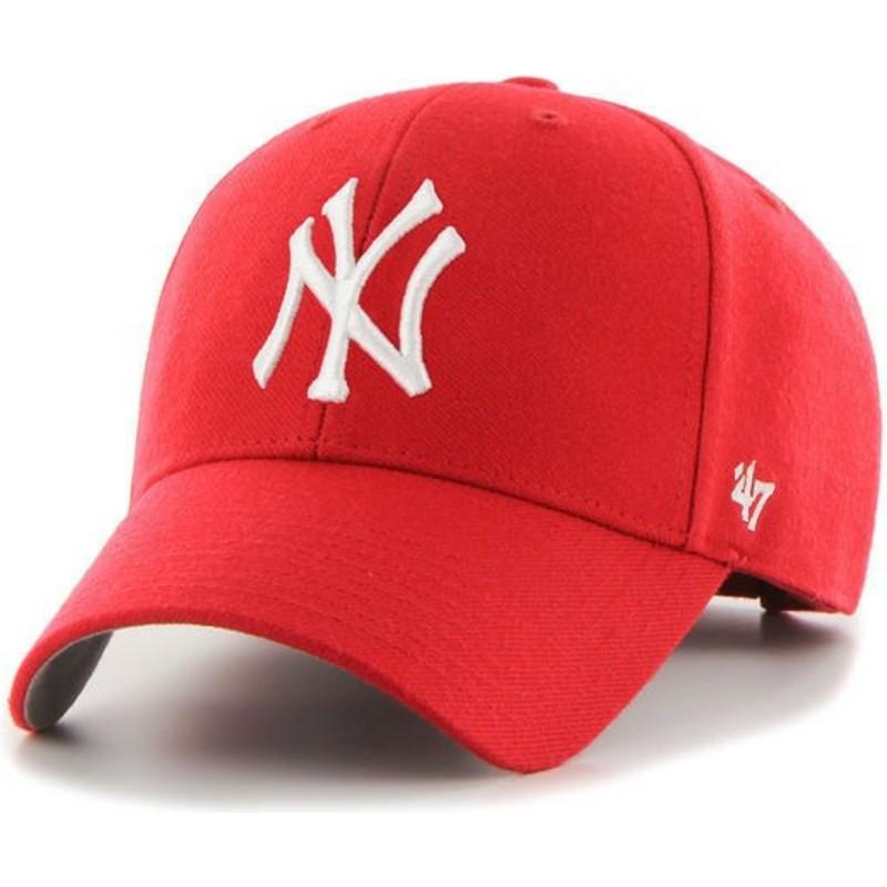 Gorra curva roja de New York Yankees MLB MVP de 47 Brand  comprar ... 248f401116c