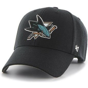 Gorra curva negra de San Jose Sharks NHL MVP de 47 Brand