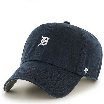 Gorra curva azul marino con mini logo de Detroit Tigers MLB Clean Up de 47 Brand