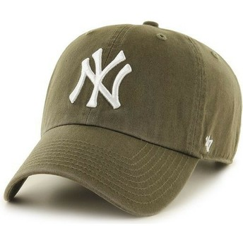 Gorra curva marrón de New York Yankees MLB Clean Up de 47 Brand
