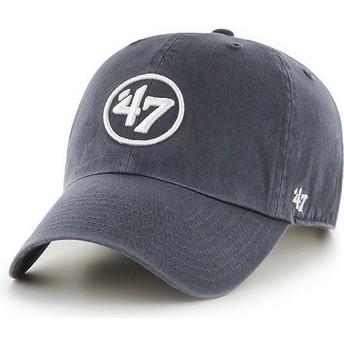 Gorra curva azul marino con logo 47 Clean Up de 47 Brand
