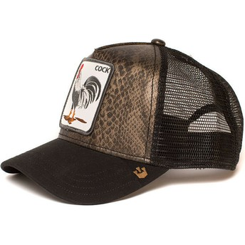 Gorra trucker negra gallo Tropical de Goorin Bros.