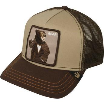 Gorra trucker marrón oso Lone Star de Goorin Bros.