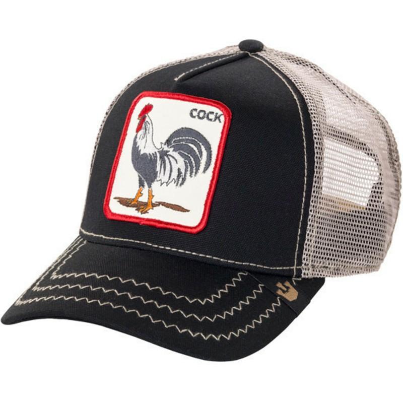 Gorra Trucker Negra Gallo Rooster De Goorin Bros Comprar