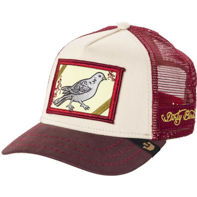 gorra-trucker-granate-pajaro-dirty-bird-de-goorin-bros