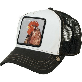 Gorra trucker negra gallo Plucker de Goorin Bros.