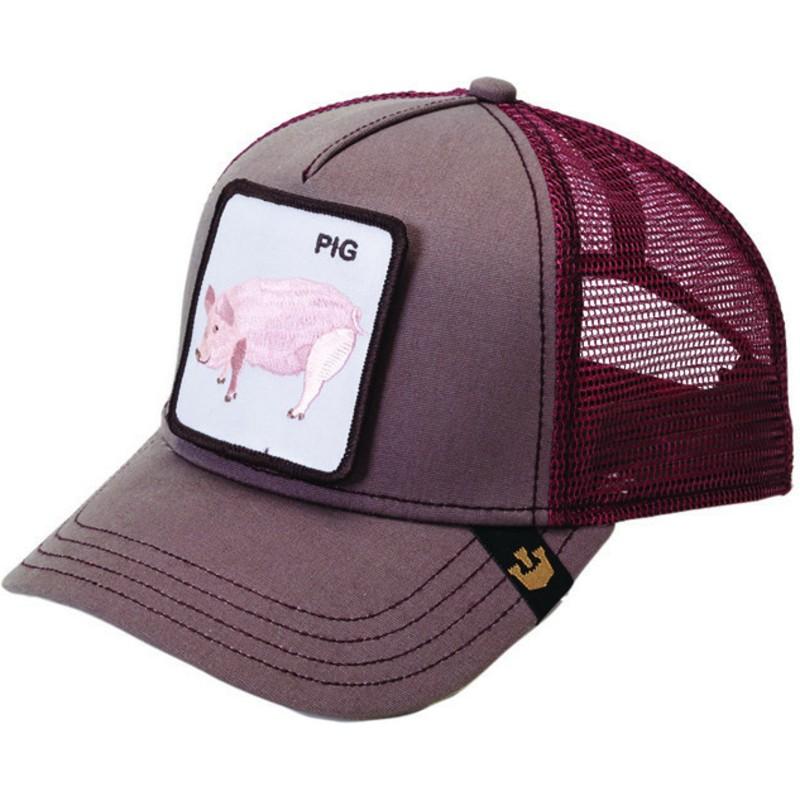 Gorra trucker granate cerdo Pig de Goorin Bros.  comprar online en ... 9727fbdf1d9