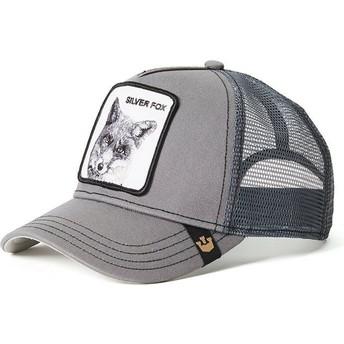 Gorra trucker gris zorro Silver Fox de Goorin Bros.